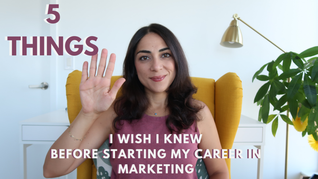 Career In Marketing - 5 Things I Wish I Knew Before I Started Out